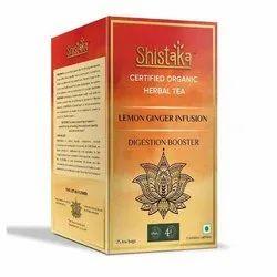 Organic Shistaka Lemon Ginger Green Tea