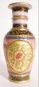 Marble 9 inch vase pink design