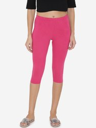 Ladies Pink Legging Capri, Size: S To XXL, Skin Fit