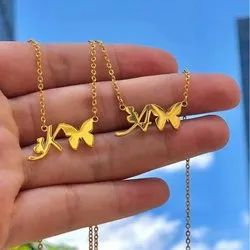 Personalized Necklace With Butterfly