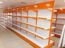 Metal Free Standing Unit Supermarket Shelf, 6, Size: 7x3 Feet