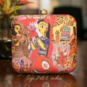 Irya Lifestyle Colorful Printed Box Clutch