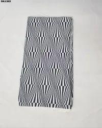 Black & White American Crepe Digital Print Fabric