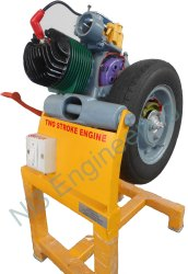 Cut Sectional Model Two Stroke Engine Actual