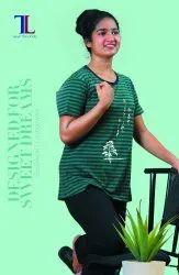 Talal Half Sleeve Ladies Pyjama Set, Size: Medium