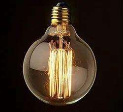 Glass Round Adison Filament Bulb