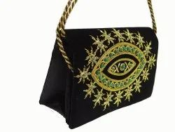 Multicolor Valvate Ladies Hand Embroidered Bag