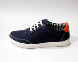 Canvas Casual Wear Kids Dark Blue Shoes, Size: 2-5