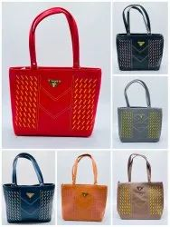 HEAVY QUALITY SNT NATIONAL LADIES HAND BAG WITH SUPERIOR QUALITY COLOURED ATTRACTIVE DESIGNS-SNT-305