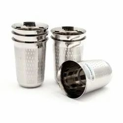 Silver Coconut Stainless Steel A4 Glasses Set of 6, For Restaurant, Capacity: 300 Ml