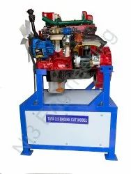 Cut Section Model of 4 Cylinder Diesel Engines