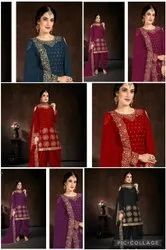 Mirror Work Patiala Suit