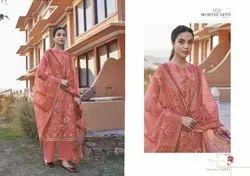 Mumtaz Arts Digital Printed Jam Satin Salwar Suit Ladies