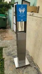 S/Steel Hand Sanitizer Panel Dispenser
