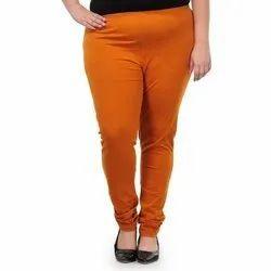Cotton Lycra Plain Plus Size Churidar Leggings