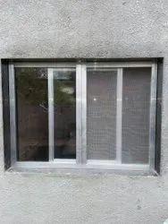 Aluminium White Mosquito Net Sliding Window