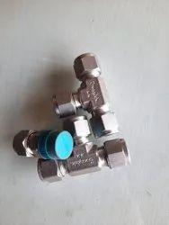 Mild Steel High Pressure Swagelok Fittings Valve