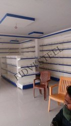Metal Free Standing Unit Supermarket Shelf