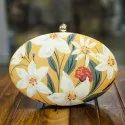 Floral Design Oval Clutches