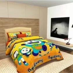 Jaipuri Yellow Printed Bedsheet