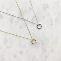 Tiny Hexagon Necklace