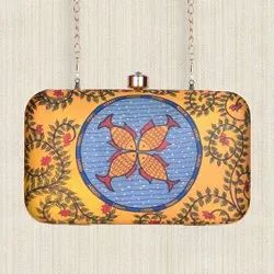 Printed rectangle clutch