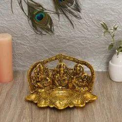Aluminium God Idol With Pooja Batti, For Home, Size: 15*23*14