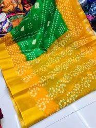 Sanvedana Fashion Casual Wear Soft Cotton Slub Saree, With Blouse, 5.5 m