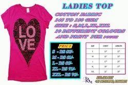 New Half Sleeve Ladies Printed T Shirt