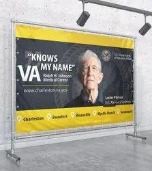 Aluminum Rectangular Flex Banner, For Advertising