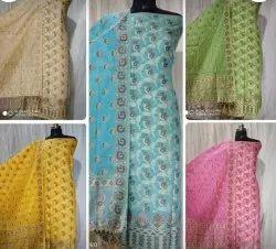 Multicolor Cotton Fabric Suit For Ladies
