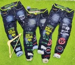 Comfort Fit Casual Wear Funky Knitted Jeans