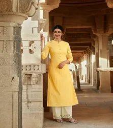 Designer Pure Cotton Kurtis With Pant