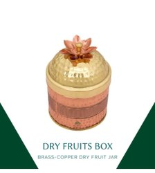 Devardhi Brass Copper Dry Fruit Box
