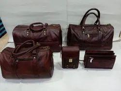 starco Men Leather 5 Pcs Combo Set