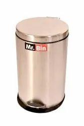 24swg. 22Ltr Plain Pedal Bin With Plastic Bucket