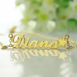 Personalized Name Necklace with Star