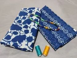 Ladies Blue Cotton Suit Fabric