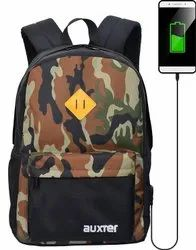 Auxter Polyester Laptop Backpack For Men And Women With USB Charging Port