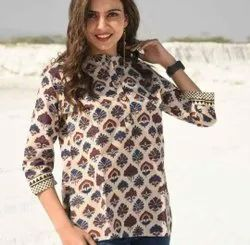 Printed Pure Cotton Top For Women