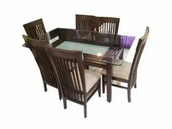 Brown 6 Seater Wooden Dining Table
