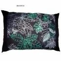 Black Embroidered Bedding Pillow Cover