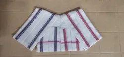 Thagadur Enterperises White plate cotton towel, 90, Size: 22 54 Inch