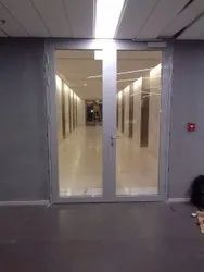 Ss ( Frame Material) Hinged Fire Rated Fully Glazed Doors, For Office, Thickness: 25 Mm
