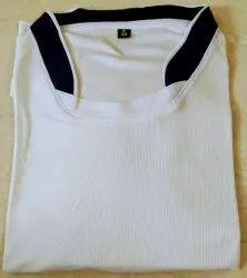 Rice Knit Chinese Collar T-Shirt