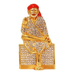 Gold Plated Hindu God Statue / Dashboard Idol