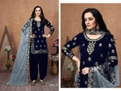 Designer Mirror Work Patiyala Suit