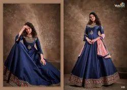 Triva Silk Multicolor heavy ethnic wear ladies gown