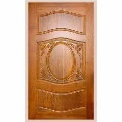 Standard Brown Wooden Hinged Door, For Home