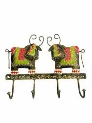 Iron Wall Hanging Cow Design